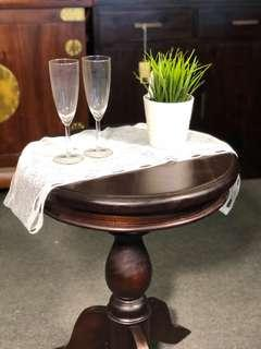 Teak Round Lamp Table EXTRA DISCOUNT at Warehouse Sale