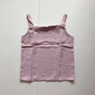 Dusty Pink Thick Spag Top