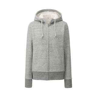 Uniqlo Furry Hoodie in Pink