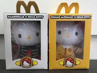 Hello Kitty 漢堡神偷 及 麥當勞叔叔造型公仔