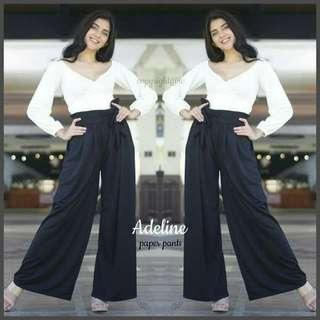 New! 5 colors! Adeline Paper Pants  (Freesize: Loose style, fits S - L )