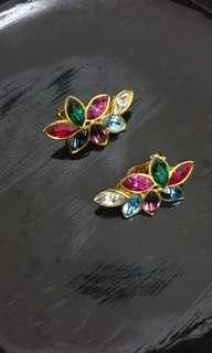Stunnng Earrings with multi colored stones