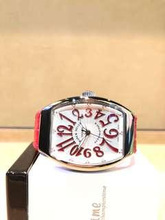 Brand New Franck Muller Vanguard V32 Silver Dial Automatic Steel Casing Leather