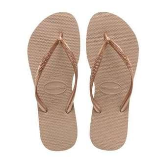 Rose Gold Havaianas Slippers
