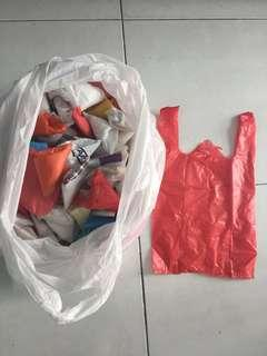 300 clean plastic bags 36cm at Jurong West Central