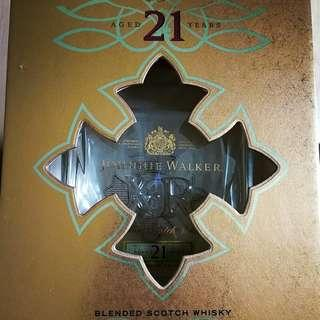 Authentic Johnnie Walker XR21 Bottle and Case