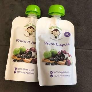 Little Freddie prune and apple baby organic food 嬰兒食品