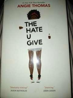 The hate u give by angie thomas (hardbound)