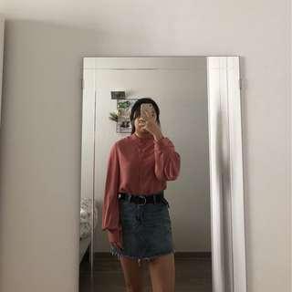 Pink Lantern/Bell Sleeve Top