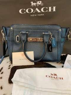 Original coach women mini swagger handbag 21cm