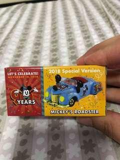🚚 TAKARA TOMY TOMICA - 90 Anniversary Disney Mickey's Roadster - 2018