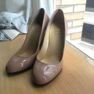 🚚 Semilla高跟鞋 #圓頭 #裸色 ##粗跟