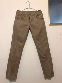 Levi's 卡其色 牛仔長褲