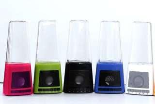 Dancing water fountain music speaker with led