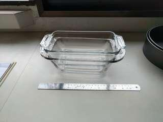 Glass bread loaf dish bakeware