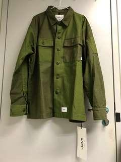 WTAPS 18AW Buds 01 Shirt Olive Drab Size L 100% new