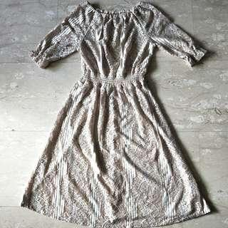 Cream Lace Dress, Fits Size S