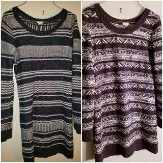 2 Sweater Dresses From Garage