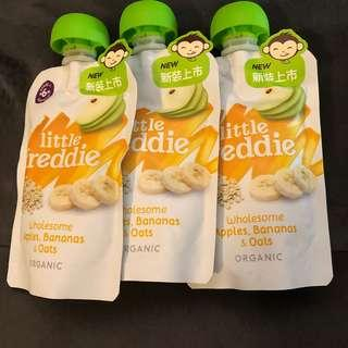 Little Freddie apples, bananas and oats