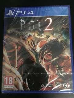 PS4 Attack On Titan 2 (New)