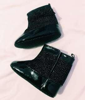 Dora black boots for baby girl