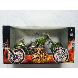 West Coast Choppers El Diablo II Bike Green 1/10