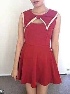 Front cut out dress
