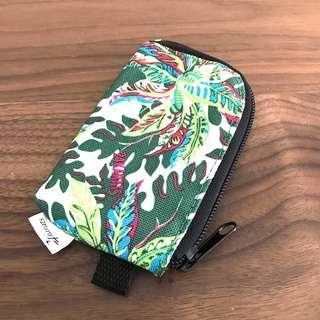 NEW 24karats Small Green Garden Canvas Unisex Coin Purse Card Holder @sunwalker