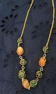 Necklace with colored stones