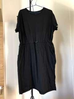 50包郵 黑色索繩連身裙 op  length 102cm  waist 50cm