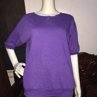 PARTNERS lavender sleeveless blouse small