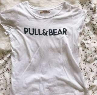 9299d98cb5a Pull   Bear White Tshirt
