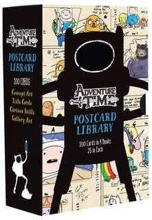 [NEW, SEALED] Adventure Time Postcard Library: 100 Cards in 4 Books, 25 in Each