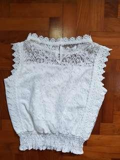 White lace top (free sized)