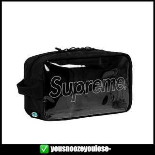 🚚 🔥INSTOCK🔥 SUPREME FW18 BLACK UTILITY BAG