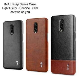 🚚 OnePlus 6T Ruyi Leather Case Full Coverage Casing Premium