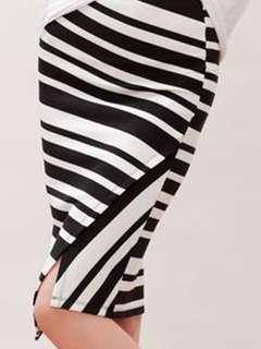 Stradivarius Striped asymmetrical Tube skirt