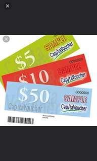 🙋♀️🙋♀️WTT my taka/ ntuc/ choice vouchers to your capital vouchers