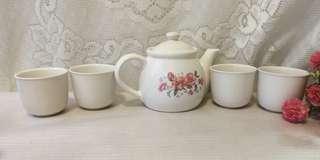 🚚 全新泡茶組 茶具組 茶壺茶杯組 陶瓷泡茶組 1壺+4杯 陶瓷杯 陶瓷茶