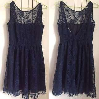 ZARA Navy Blue Laced Doll dress
