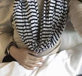 Cotton On Black Striped Scarf