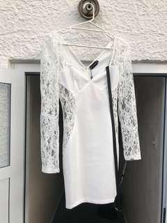 New, white sexy lace dress size 6-8