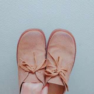 🚚 牛皮_綁帶皮鞋 25cm