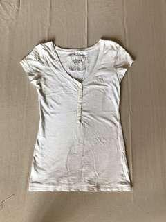 Abercrombie and Fitch white top