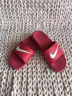 Nike red slides
