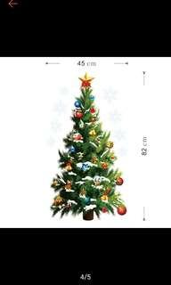 Christmas Tree wall decoration decal for children