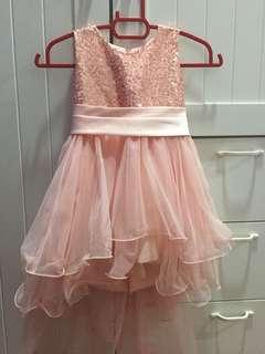 Long Tail Flower Girl Party Dress