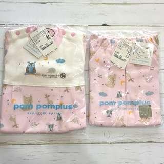 🚚 台製pompomplus專櫃80公分女童居家服組 包屁衣褲組