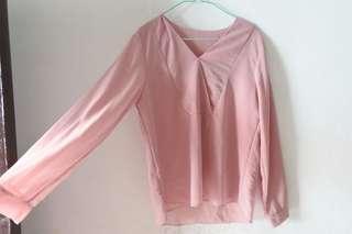 Blouse pink muda mayoutfit