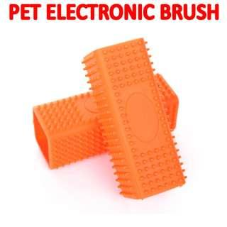 TPE053 Pet Dog Puppy Cat Bath Brush Comb Soft Silicone Sticky Hair Tool Brand New Sales